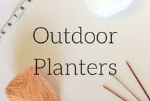 Outdoor Planter Ideas / An Idea board for my post, Outdoor Planters your Kids will Love to Make. URL: https://veronicamarae.com/outdoor-planters-your-kids-will-love-to-make/