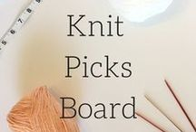 Knit Picks Board / This board contains a bunch of products from knit picks that I love. I only post tools I have used, however, I have not handled all of the yarn. I post styles and colors that I love and want to someday use.  You will specifically find: knitting needles and tools, crochet hooks and tools, wool yarn, fingering yarn, sock yarn, worsted weight yarn, cotton (linen, specialty, etc) yarn, and yarn kits.  Most of these pins are affiliate links and I may get a small commission.