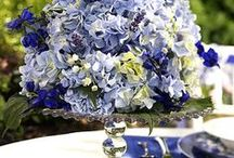 Blue Weddings / Blue Wedding Ideas and Inspiration - Aisle decorations, favors, bridal bouquets, stationery, table settings, wedding cakes, reception and ceremony decor, centerpieces ...