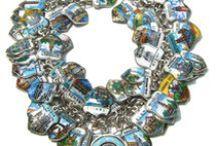Travel Shields - Vintage Charms & Bracelets / Vintage Enamel Travel Shield Charms