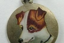 Vintage Charms - Dogs & Puppies / Vintage Silver & Enamel Dog Breed Charms & Jewelry. Dog Charm Bracelets, Dogs & Puppy, Puppies