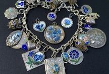 eCharmony Charm Bracelet Collection / A few Vintage Charm Bracelets from my collection. I love to collect Vintage German charms, vintage enamel charms, travel shield charms, Silver Art Nouveau charms, and Italy charms.