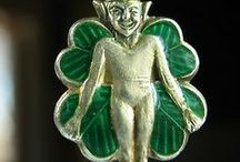 Elves, Gnomes & Pixies, Elf - Vintage Charms / Elves, Gnomes and Pixies Vintage silver and enamel charms
