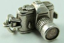Cameras & Photography - Vintage Charms / Silver & Enamel Charms - Cameras & Photography, photos