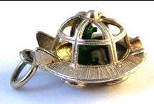 Silver - Vintage Charms & Bracelets / Vintage Silver Bracelet Charms, Sterling Silver charms, 800 Silver Charms, Antique silver charms, Victorian silver charms.