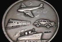 Planes, Trains & Automobiles - Vintage Charms & Bracelets / Vintage silver charms - Airplanes, Trains, Cars, Autos, boats, ships, trolleys, cable cars, motorcycles and all kinds of transportation charms.