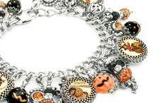 Halloween Jewelry / Handmade charm bracelet, jewelry, earrings and necklaces all for the Halloween holidays.