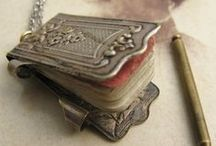 Vintage Charms - Dance Cards & Note books / Vintage Antique Victorian Silver Dance Card and Chatelaine Notebook Charms.