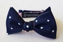 Knot Theory bow ties / Bow ties and neckties designed by Tanya Huang at Knot Theory.
