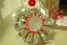 Stampin' Up! Christmas ornaments / by Melissa Davies - bee divine designs