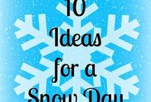 Winter / Fun things to do in the winter. Ideas for snow days. DIY Decor for winter.