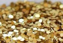 Flying High on Gold Glitter