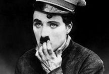 """Charles Chaplin / Sir Charles Spencer """"Charlie"""" Chaplin, KBE (16 April 1889 – 25 December 1977) became a worldwide icon through his screen persona """"the Tramp"""" and is considered one of the most important figures of the film industry. His career spanned more than 75 years, from a child in the Victorian era to close to his death at the age of 88.  / by Tricia B."""