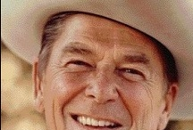 Ronald Reagan / Ronald Wilson Reagan was an American actor and politician. Prior to his presidency, he served as the 33rd Governor of California.  40th President of the United States (1981–1989) / by Tricia B.