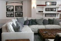 Basement Decorating Ideas / Basement Decor Ideas and Inspiration | Basement Decorating Ideas | Decorating Ideas for Basements | Interior Design Basement | http://mylifefromhome.com/