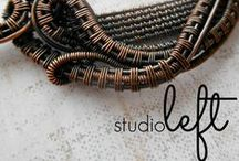 studioleft, LLC / Handcrafted Artisan Jewelry and Art by wire artist, Brianna Leigh.  wire wrapping, wire weave, wire woven, hammered wire, copper wire, pendants, ring, earrings, bracelets, bangles, silver, fine silver, sterling silver, wire art, wire work, raw metals, semi precious stones, cabs.