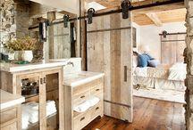 Decorative Sliding Barn Door / Using Sliding Doors in Decor | Decorative Sliding Barn Door | Modern Sliding Barn Door | Decorating with Sliding Barn Doors | http://mylifefromhome.com/