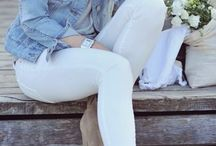 White Denim Inspiration / Outfit Ideas for White Denim | White Denim Inspiration | White Jeans | Ideas for White Jeans | http://mylifefromhome.com/