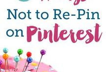 Pinterest Tips / Tips for using Pinterest