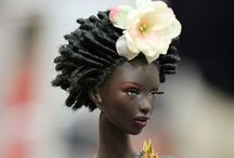 Sista Dolls!!!  (Brotha's too...) / Growing up, there weren't a lot of dolls that looked like me.  Beauty was in a box!  Now that the box has been ripped open, we all know beauty is everywhere!!!!  And it is all different colors, shapes and sizes!!!!  (The hair texture varies too!!!!). ☺️