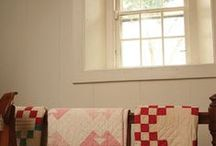 Hang 'em high! / Ways to display quilts and projects so they aren't just sitting on a shelf somewhere.