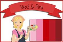 Color: Pink & Red / #Pink #Red #Green      Color combos for Valentine's Day / by Robin Sampson