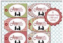 Digital Printables: Christmas / Digital Christmas tags / by Heart of Wisdom