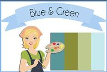 Color: Blue & Green / Lovely blue, green and white color combos. / by Robin Sampson