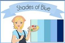 Color: Blues / Blue color scheme, Color Pallets, Shades of Blue / by Robin Sampson