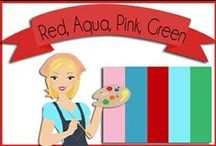 Color: Red, Aqua, Pink, Green / by Robin Sampson