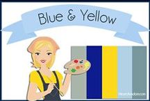 Color: Blue & Yellow / Blues and Yellows Color Pallettes, Decor, etc. / by Robin Sampson