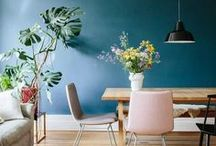 Kitchens & Dining Rooms / modern kitchen, modern dining room, colorful kitchen, colorful dining room, boho kitchen, boho dining room, kitchen decor, dining room decor, organic modern kitchen, organic modern dining room