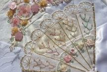 Quilting: Fabric Embellishment / Embroidery / I LOVE Ribbon Embroidery! Embellishing quilts with fibre art, embroidery, silk ribbon, not just crazy quilts / by Heart of Wisdom