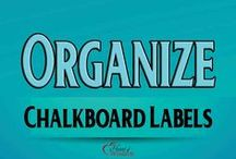 Organize: Chalkboard Labels / Chalkboard labels and super chalk ink  to organize your home, storage, mason jars, homeschool room, quilt room, closets, anything! / by Heart of Wisdom