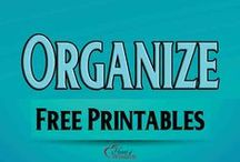 Organize: Free Printables / Free Printables to organize every room in your house / by Heart of Wisdom