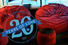 Roots: Then and Now / Lovesac celebrates its biggest birthday yet, with the launch of the limited edition Roots Collection. With the release of four throwback Sacs, Roots pays homage to the 20 years of Love that have brought us to where we are today. / by Lovesac