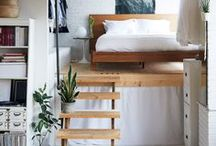 Small Spaces / small spaces, small apartments, studio apartments, small studio, studio decor, apartment decor, tiny home decor, tiny houses, small space decorating, small living room decor, small bedroom decor, small kitchen decor, small dining room decor
