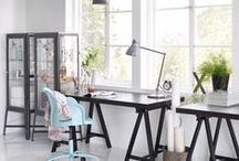 Home Office Solutions / It might be work, but it doesn't have to feel like it. All it takes is a comfy chair, home office furniture that keeps things organised, and the right lighting for the job. And by making it easier to tackle those to-do's, you'll have more time to spend on your wanna-do's. / by IKEA UK