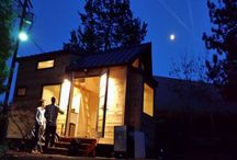The Hiatus Tiny House / The Hiatus was the 1st tiny house & prototype that launched the Company. It captures the rustic Oregon wilderness with an exterior finish of rough-sawn blue