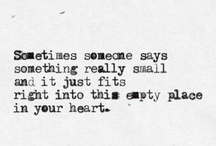 I fall deeply, madly in love with words..... / Beating  / by Michaela Campbell