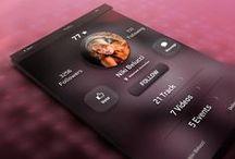 UI DESIGN / Cool design/color ideas for UI