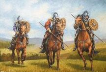 """ELLIOT FOR AYE!/MY CLAN/MY REIVER FAMILY / The Elliotts of the Anglo-Scottish Borders were known as Border Reivers, part of a lawless society that formed from tough Border living conditions. As each monarch fought for supremacy, families living on either side of the Border took the brunt of each invasion & each retaliation from the English & Scottish armies, often losing everything they had. They finally took to raiding & plunder to survive - then it became a way of life.  (""""I'm little Jock Elliot and WHA DAUR MEDDLE WI' ME?!"""")   / by Patti Elliott Di Loreto"""