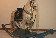 Rocking Horses & other Rocking Animals / I love rocking horses & other rocking animals as much as I love carousel animals!  And when the rocking horse is also a carousel horse, well, that's just twice as nice! / by Patti Elliott Di Loreto