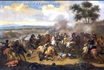 """The Battle of the Boyne, 1690 / My interest in this battle was intensified when I read that the Davisons of County Armagh fought in this one - and THAT is where my Ulster-Scot Davisons came from!  Family connection or not, this was a very interesting period of history.  As an Ulster-Scot descendant, I think it's SO important to learn about their history in Ulster, it was their HOME and not just a """"stop"""" on their way to America from Scotland."""