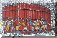 The Siege of Derry, 1689 (18 April - 28 July, after a 4 mo. standoff) / The Siege of Derry involved a lockdown of the city gates by the Apprentice Boys in Dec 1688, the Siege began in April. (during the Williamite War in Ireland) The city, a Williamite stronghold, was besieged by a Jacobite army until it was relieved by Royal Navy, (some sources say merchant ships) sent by William.  This 105 days long siege is a tragic, yet fascinating episode in Ulster history - and my Elliotts were there (IN Derry)!
