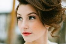 gettin' hitched. bridal beauty. / wedding looks + make up + hair + nails + ideas