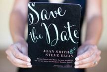 gettin' hitched. save the date. / wedding + save the date ideas.