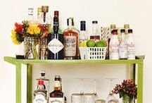for the bar. / bar carts + bar ware + accessories + tips + etc.