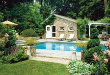 Outdoor spaces / Screened in porch Pool area / by Andrea Schultz
