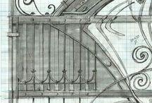 "Ворота и калитка \ Посёлок ""Летова Роща"" / Фото на этапе сборки изделий и после завершения монтажа. Custom forged iron work. Iron gate and fence."